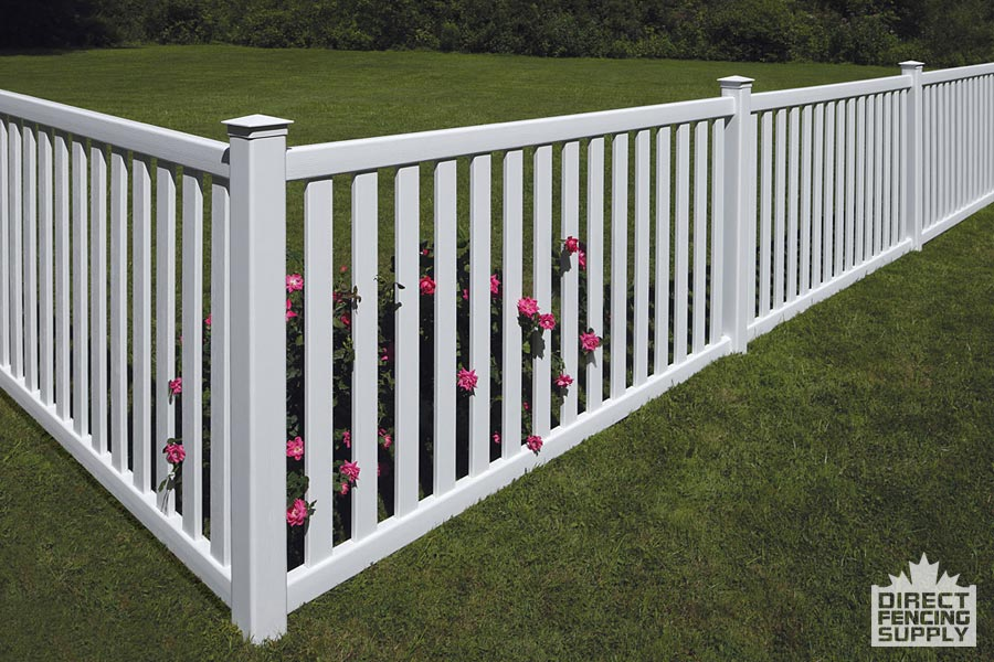 3 foot pool fence with wide plastic pickets
