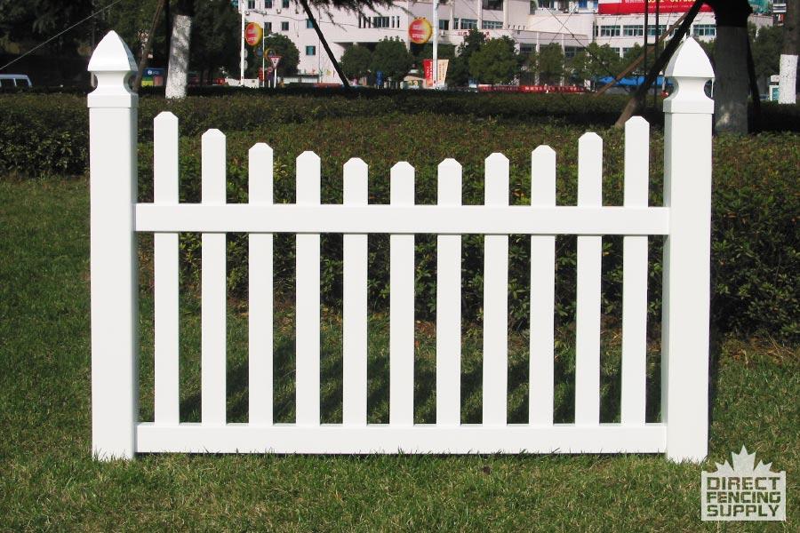 Classic scalloped picket fence Alberta