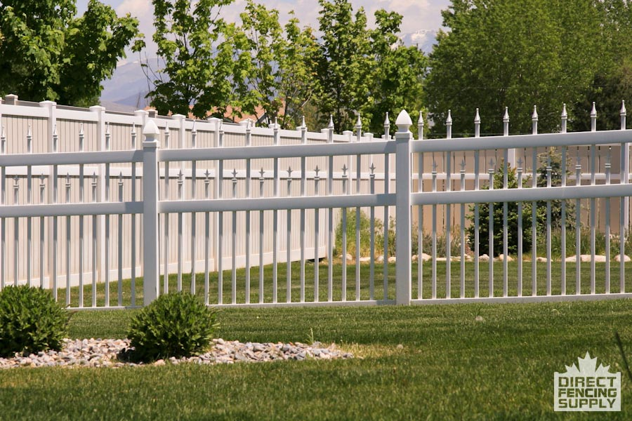 Gorgeous, classy vinyl fence looks like iron
