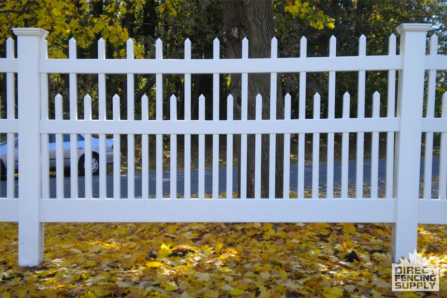 Highend vinyl picket fencing Saskatoon