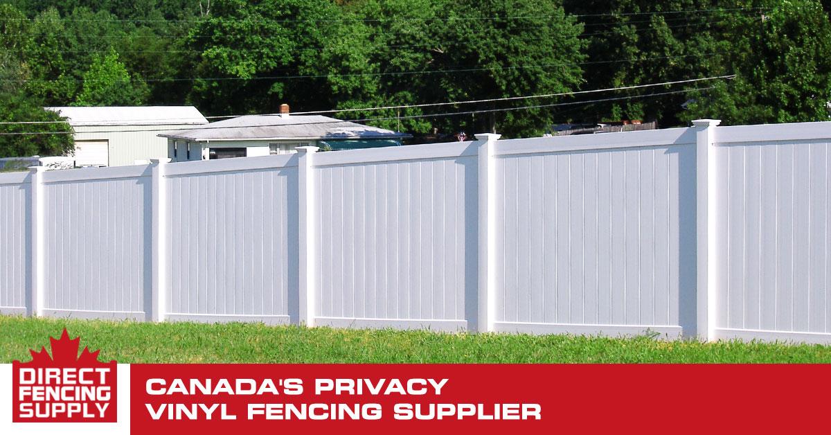 Direct Sales Canada >> PVC Vinyl Privacy Fencing | Direct Fencing Supply