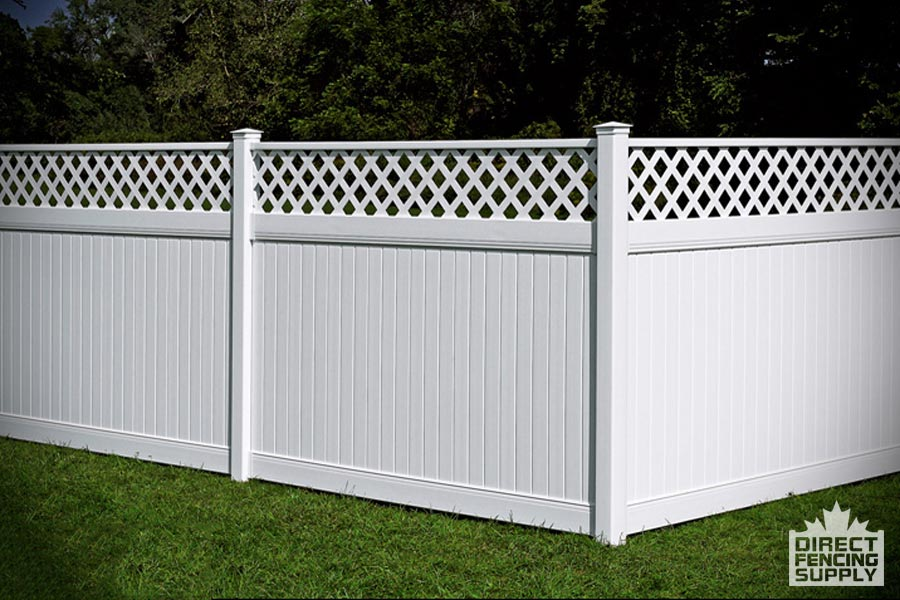 Niagara Poly fence with cross lattace