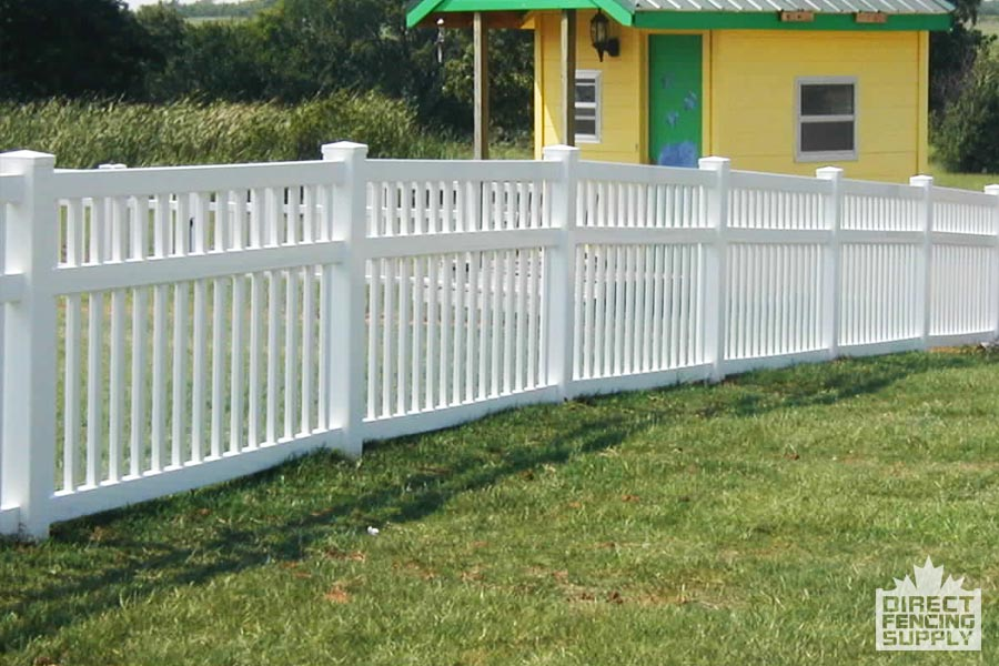 Plastic pool fence with narrow pickets
