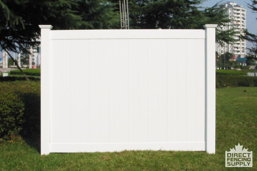 White poly fencing panels Vancouver