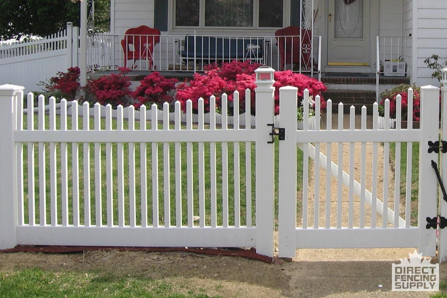 Classic vinyl picket fence direct fencing supply - Pvc fencing solutions ...