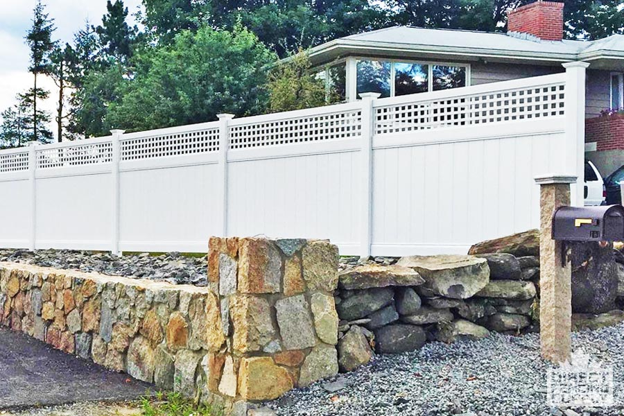 Privacy Fence with hatch lattice on top