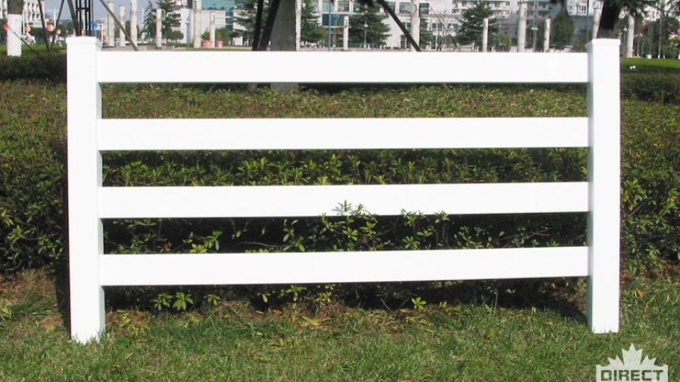PVC fence with horizontal boards great for ranches