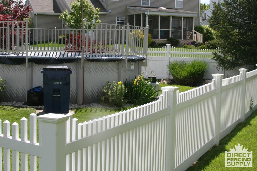 PVC fencing with spindles