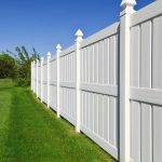 Semi-privacy Vinyl Fence with spacing