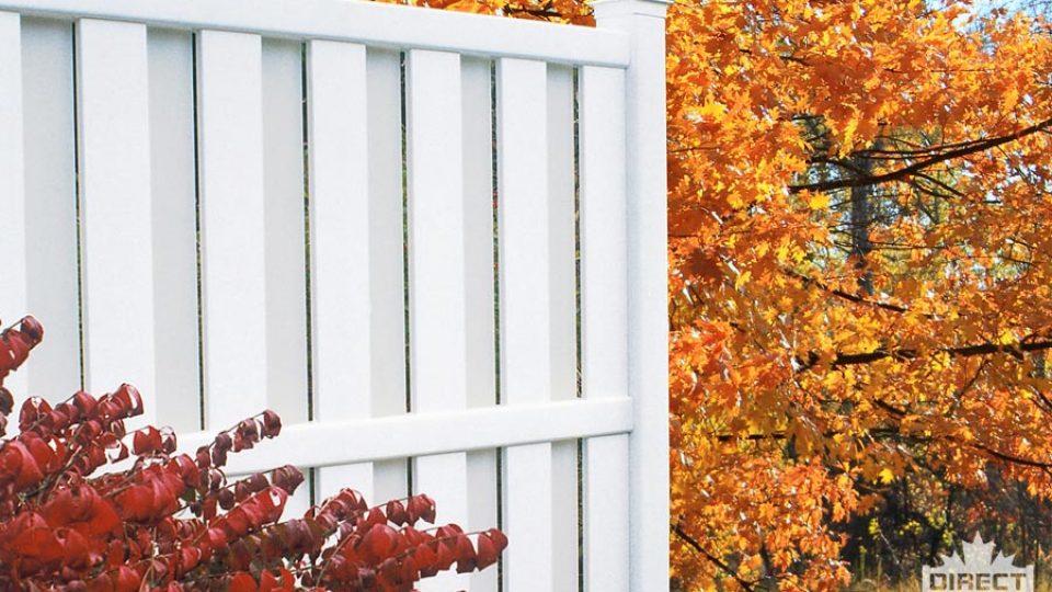 Semi-private vinyl fence installation Winnipeg