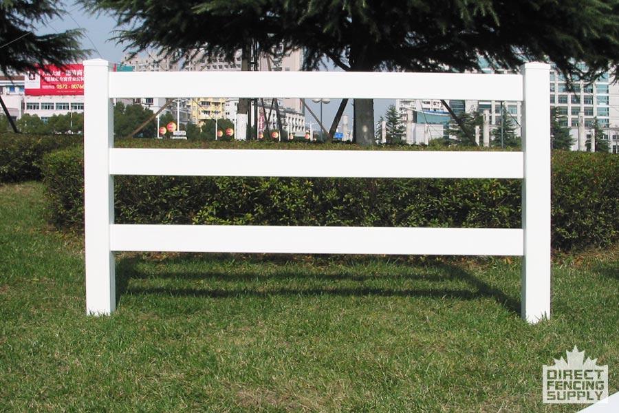 Easy installation, three rail ranch fence