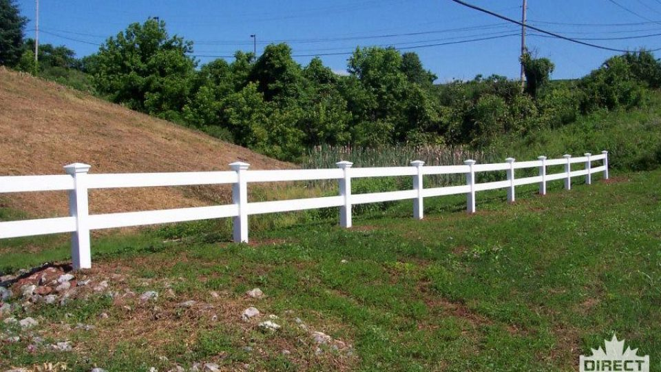 Two rail ranch fence made with white vinyl Peterborough, ON