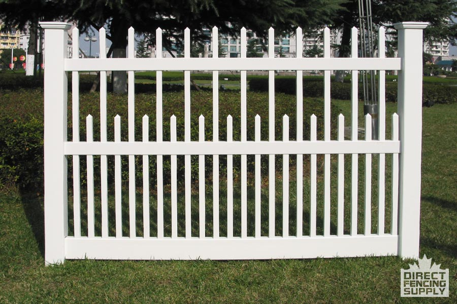 Classy vinyl picket fence