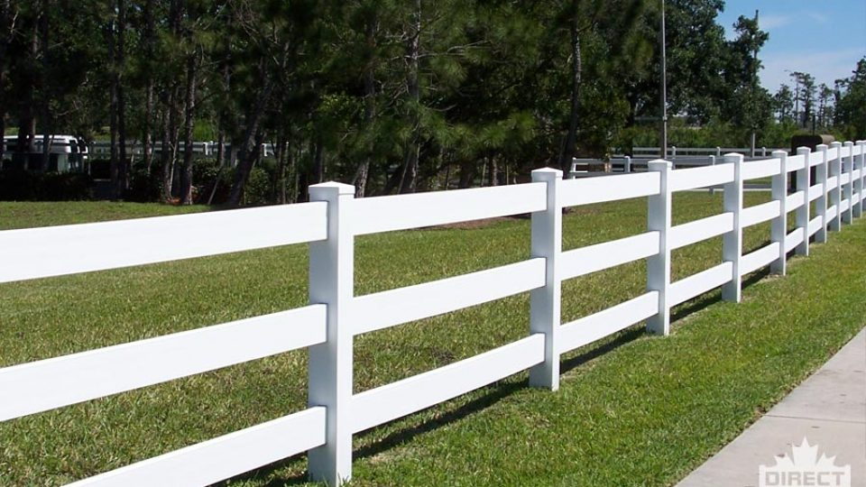 Vinyl fence for apartments, townhouses and condos