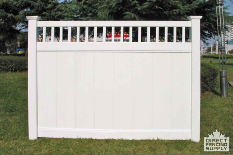 Good neighbour vinyl fence with ladder pickets
