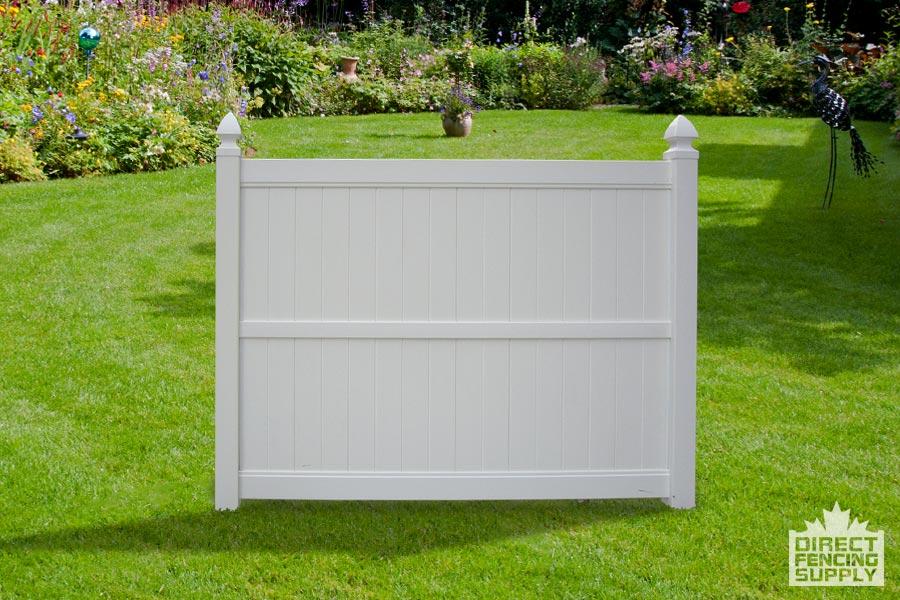 6' White plastic fence panels Alberta