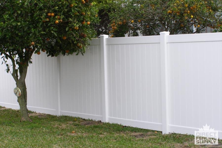 White plastic fencing Edmonton