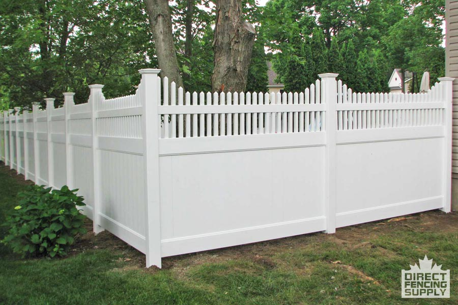 White vinyl fencing with pickets Toronto