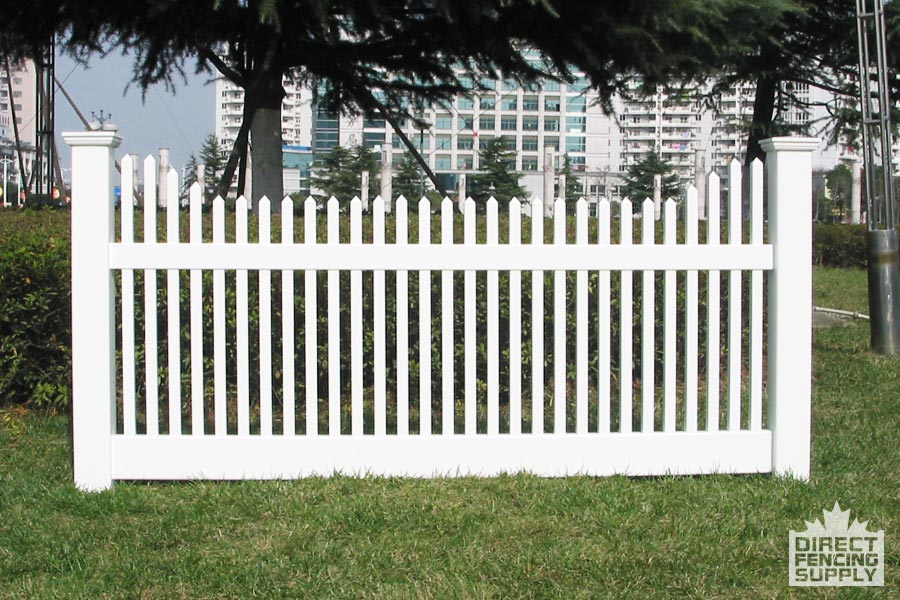 Classic vinyl picket fence direct fencing supply