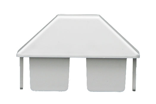 Dog ear picket cap for PVC fence
