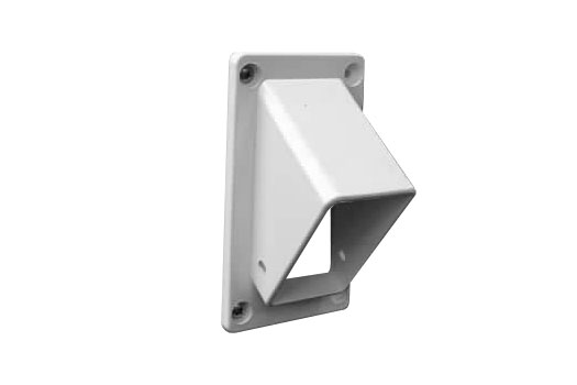 Angle rail mount for vinyl fence rails on stairs