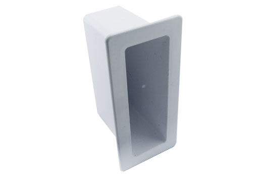 PVC gate connector rail insert socket