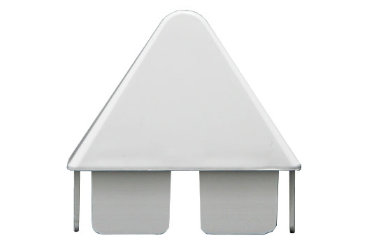 Spade picket cap for vinyl fence pickets