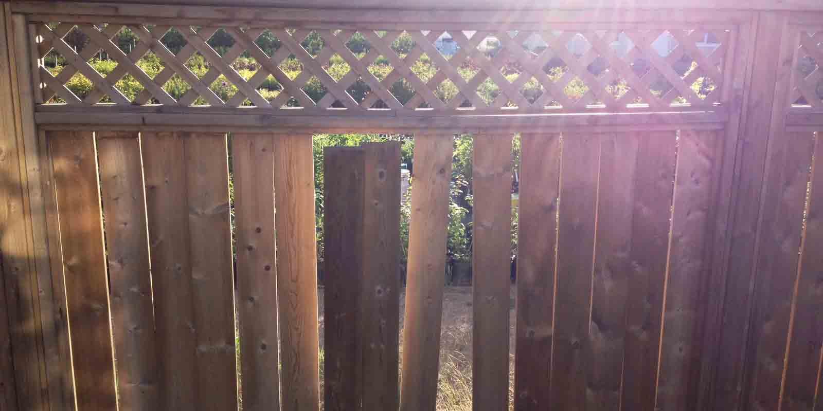 The problem with pre-built fences