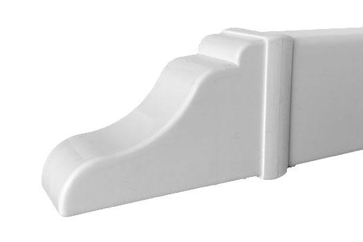 Vinyl arbour rail cap for pergola