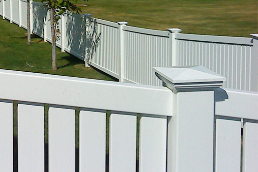 White PVC new england post fence cap