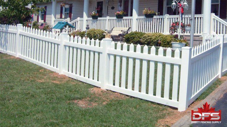 Cloverdale Picket Vinyl Fence