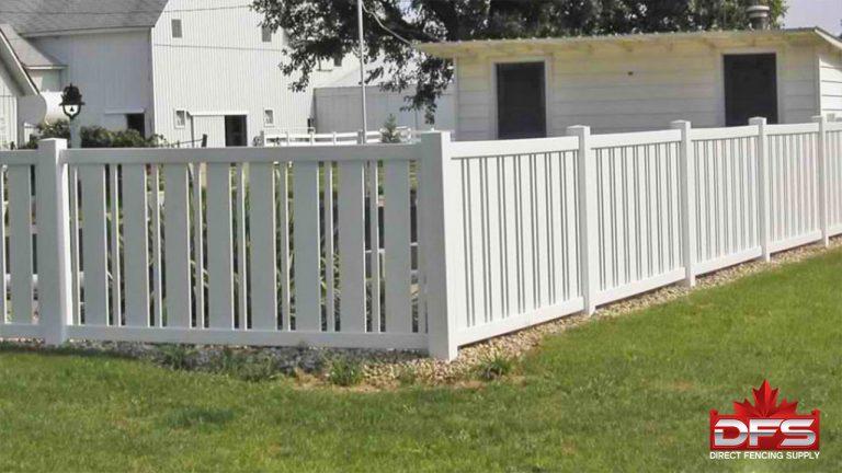 Driftwood Pool Vinyl Fence