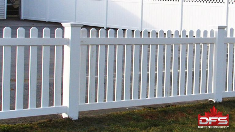 Evergreen Vinyl Picket Fence