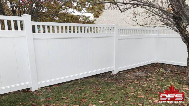 Fairmont Vinyl Privacy Fence