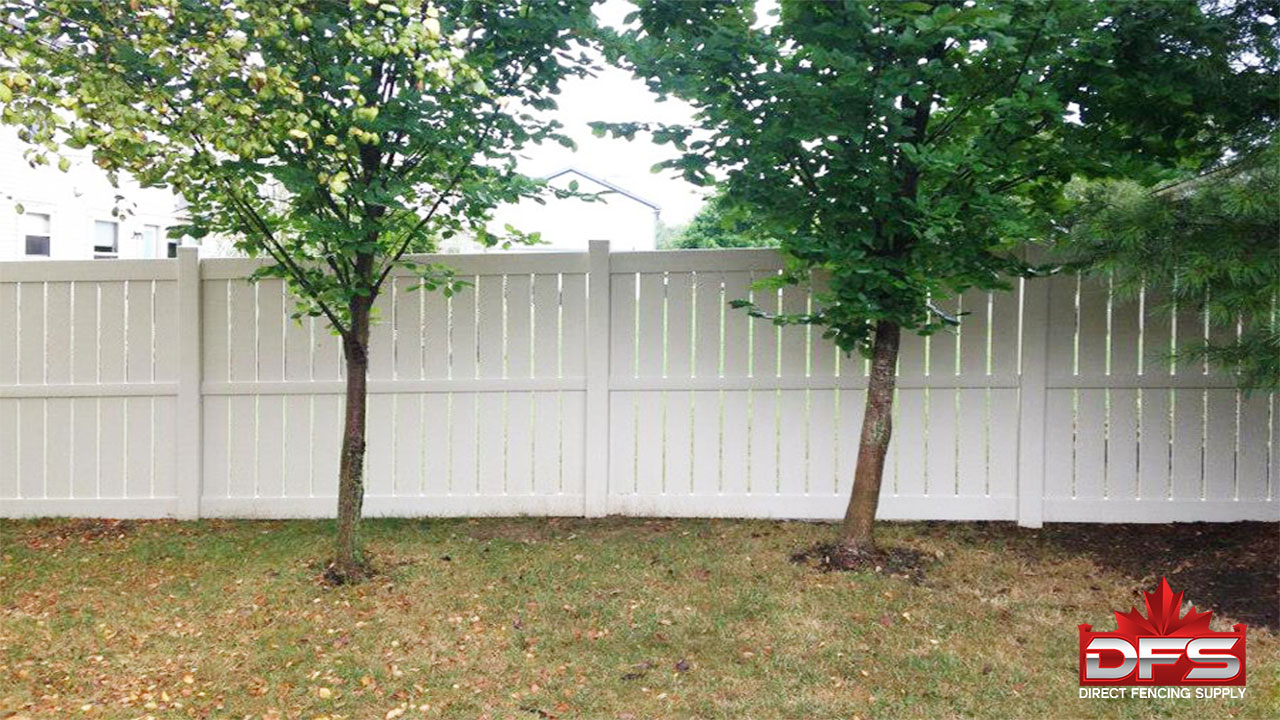 Huron Semi-Privacy Vinyl Fence