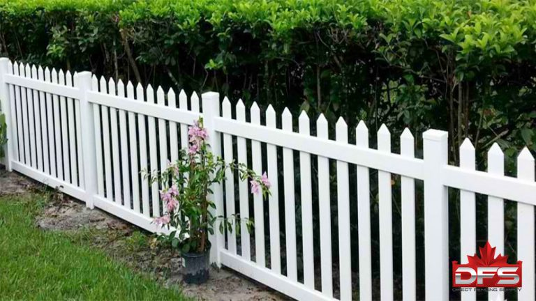 Cloverdale Vinyl Picket Fence
