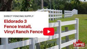 ranch rail vinyl fence installation YouTube thumbnail