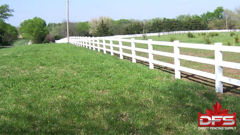 Eldorado III Ranch Rail Vinyl Fence