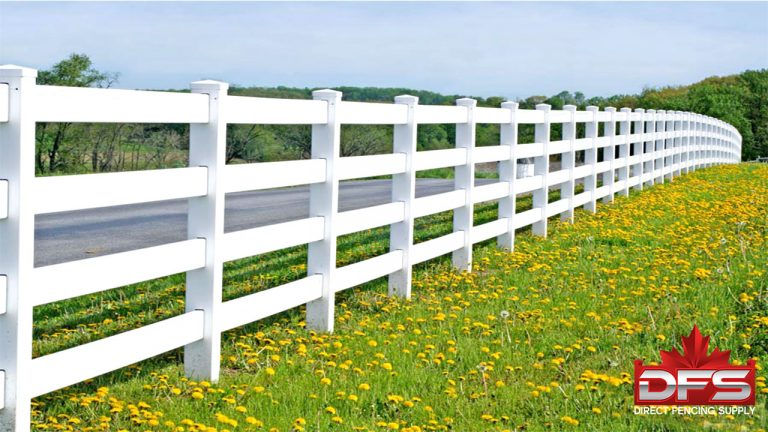 Eldorado IV Ranch Rail Vinyl Fence