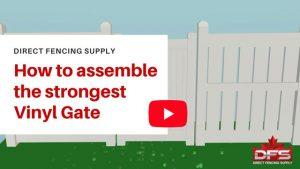 pvc fence vinyl gate installation YouTube thumbnail