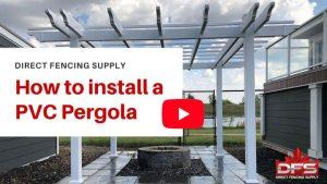 vinyl fencing products pergola installation YouTube thumbnail