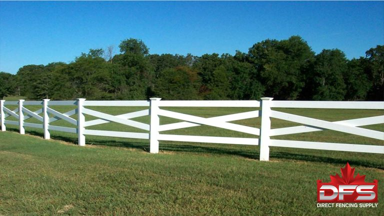 Sunnydale Ranch Rail Vinyl Fence