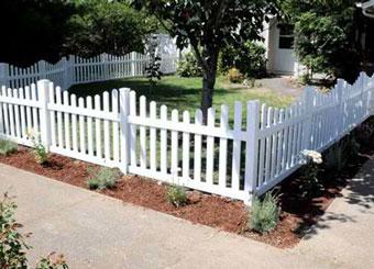 fencing saskatoon - picket vinyl fence