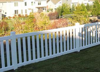 fencing saskatoon - pool vinyl fence