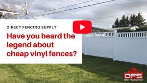 cheap vinyl fencing products Calgary YouTube thumbnail