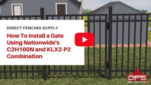 gate installation using self closing gate hinges and gate latch YouTube thumbnail