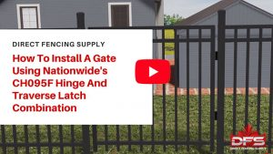 gate installation using Nationwide Industries Hinge and Traverse Latch YouTube thumbnail