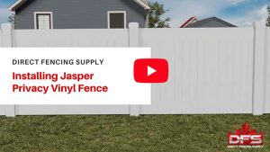 Direct Fencing Supply Jasper Privacy Vinyl Fence Installation YouTube thumbnail