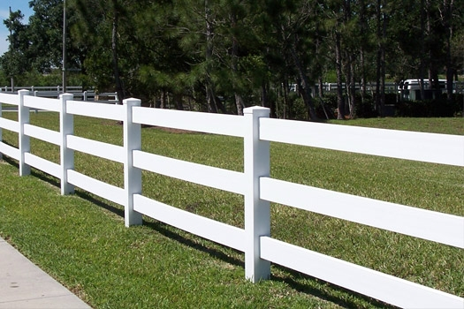 Ranch rail PVC fencing